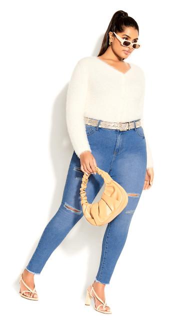 Asha Wild Rose Jean - blue