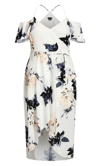 Delicate Ruffle Maxi Dress - ivory