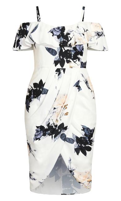 Cream Floral Dress - ivory