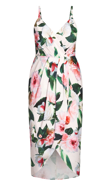 Pink Garden Dress - ivory