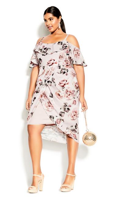 Plus Size Champagne Rose Dress - blush