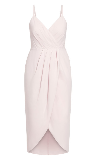 Tulip Flutter Dress - blush