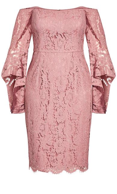 Lace Amour Dress - deep blush