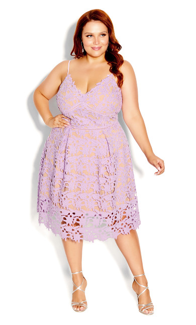 Plus Size So Fancy Dress - lilac
