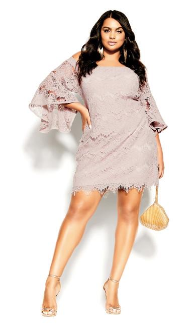 Plus Size Bella Lace Dress - blush