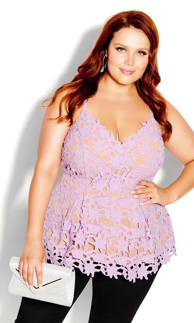 Plus Size So Fancy Top - lilac