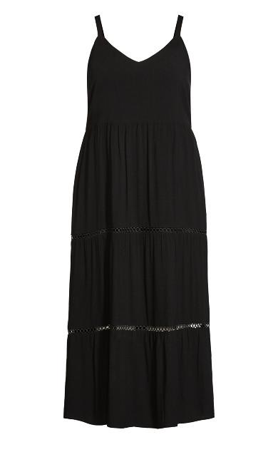 Kadence Tiered Dress - black