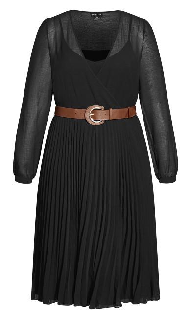 Precious Pleat Dress - black