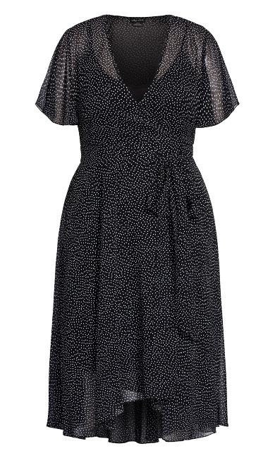 Spotty Wrap Dress - ivory