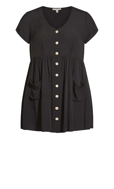 Sabrina Pocket Dress - black