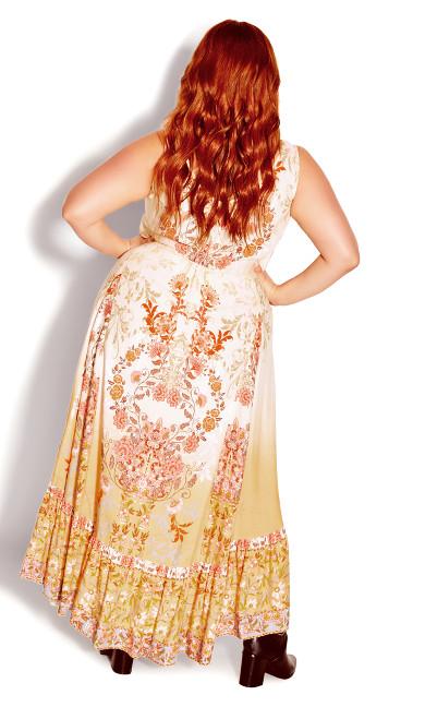 Karma Border Maxi Dress - buttercup