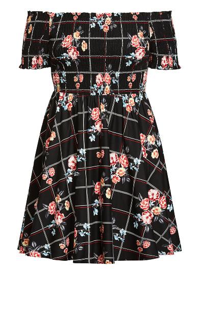Picnic Bouquet Dress - black