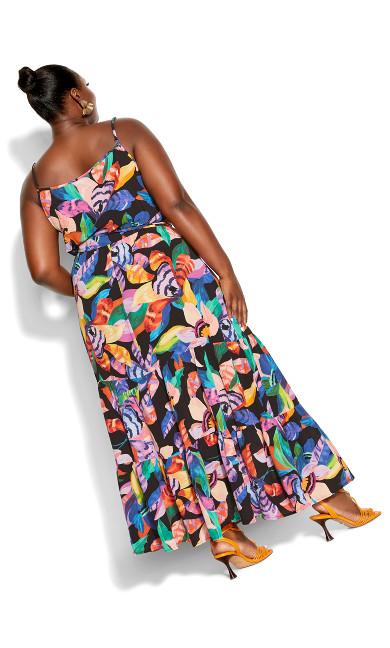 Revival Floral Dress - black