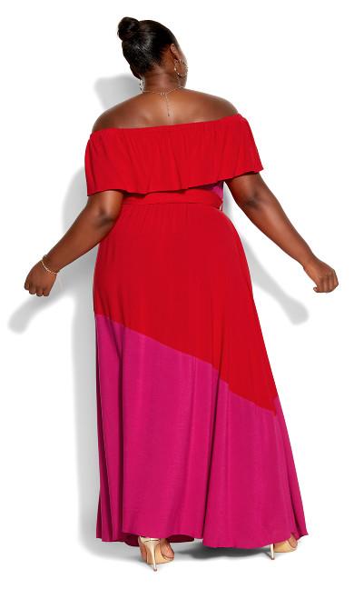 Colourburst Maxi Dress - fuchsia