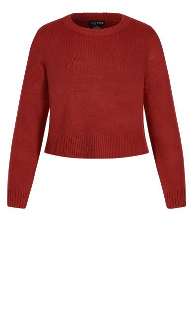 Cute Crop Jumper - red
