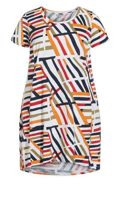 Hello Sunshine Dress - ivory multi