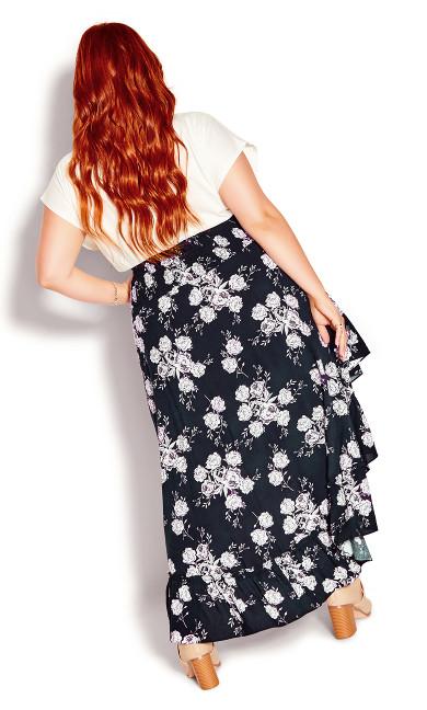 Divine Rose Skirt - navy
