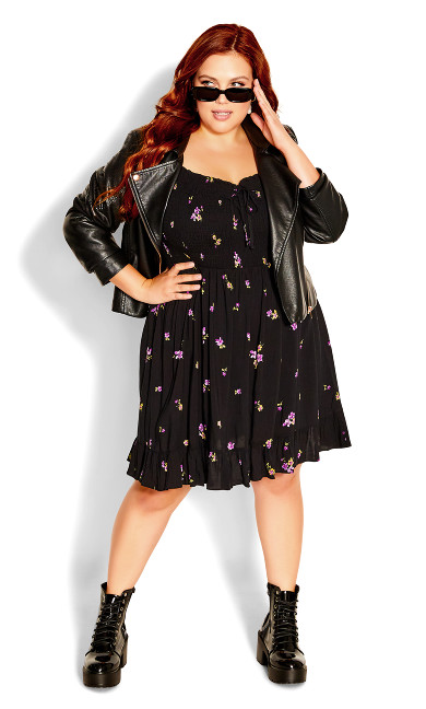 Sweet Petal Dress - black
