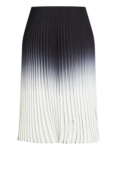 Pleated Ombre Skirt - ivory
