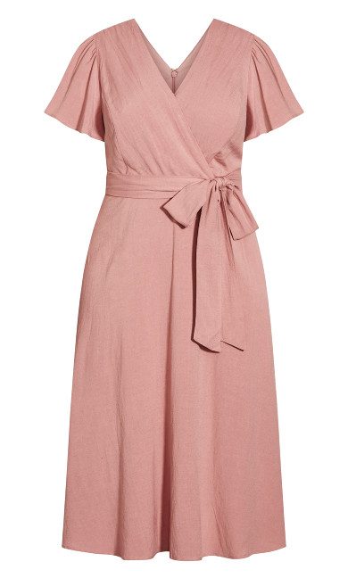 Nouveau Flutter Dress - rose