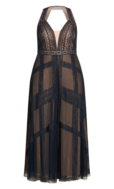 Divine Whimsy Maxi Dress - navy