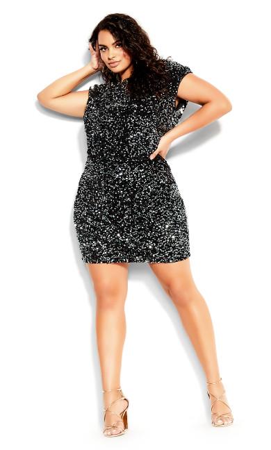 Dress Sequin Party - black