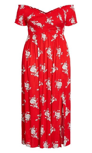Rose Love Floral Maxi - red