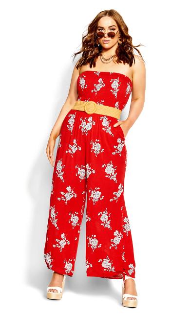 Rose Love Jumpsuit - red