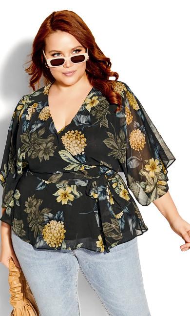 Golden Hydrangea Shirt - black