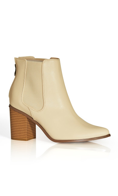 Plus Size Maddie Ankle Boot - buff
