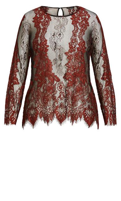 Royal Lace Top - henna