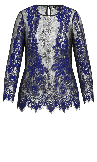 Royal Lace Top - lapis
