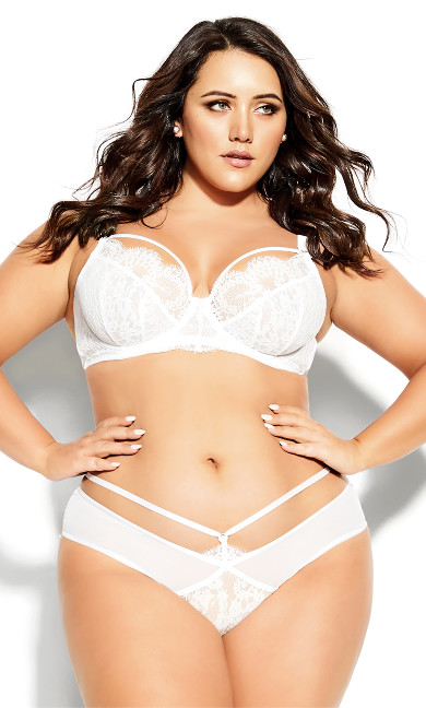 Plus Size Delores Shorty - ivory
