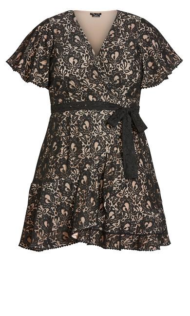Sweet Love Lace Dress - black
