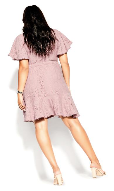 Sweet Love Lace Dress - dusty rose