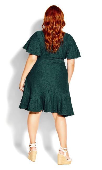 Sweet Love Lace Dress - jade