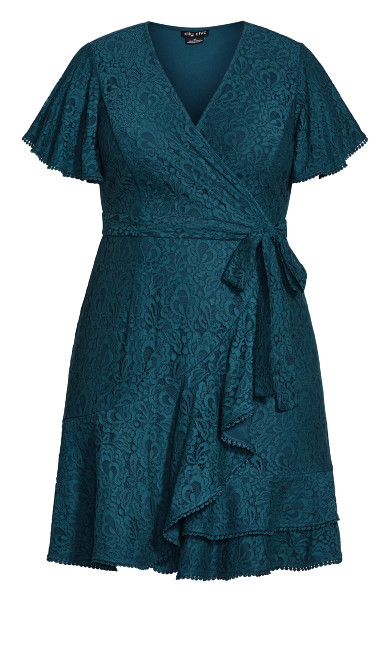Sweet Love Lace Dress - peacock