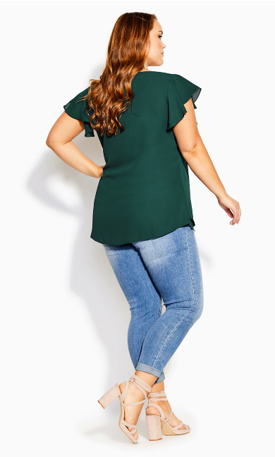 Zip Fling Top - jade