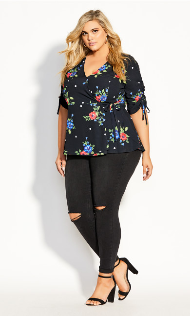 Floating Bouquet Top - black