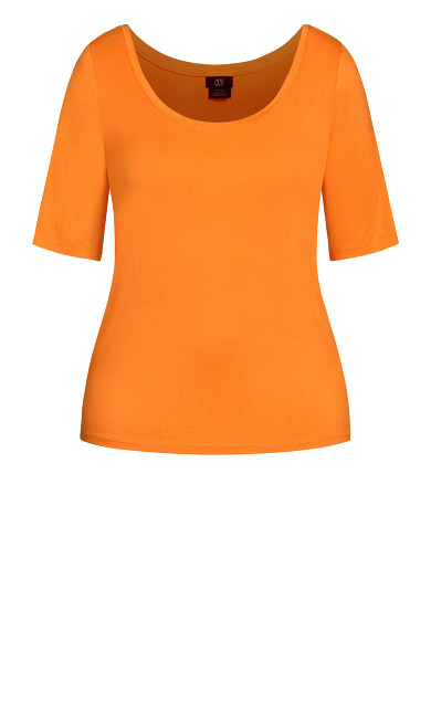 Off Shoulder Tee - mango