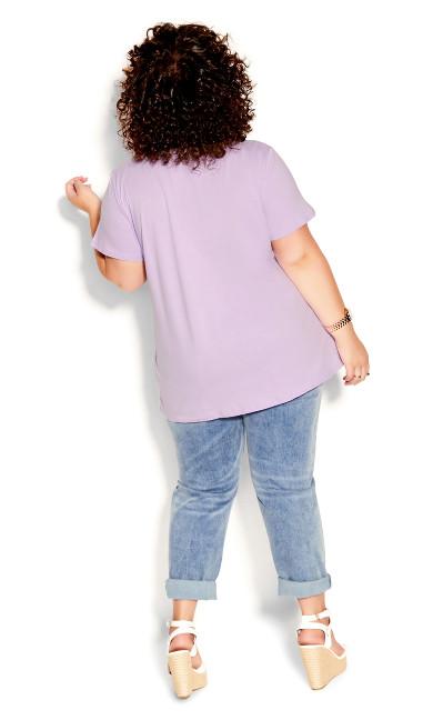 Basic Longline Tee - lilac