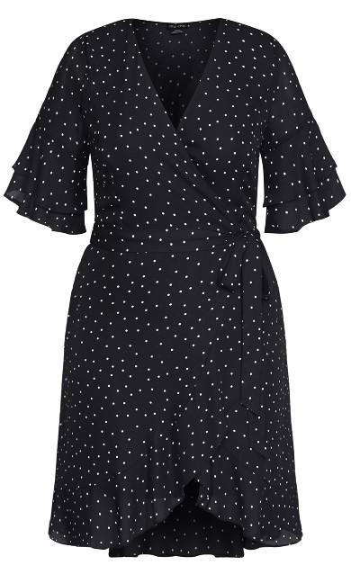 Charmed Spot Dress - black