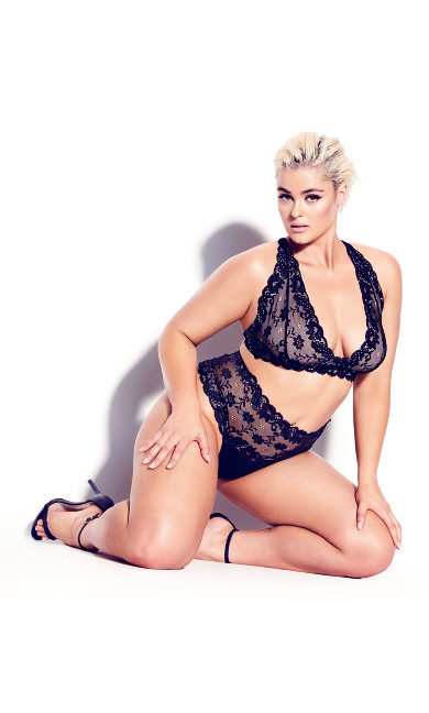 Plus Size Zoey Bralette - black