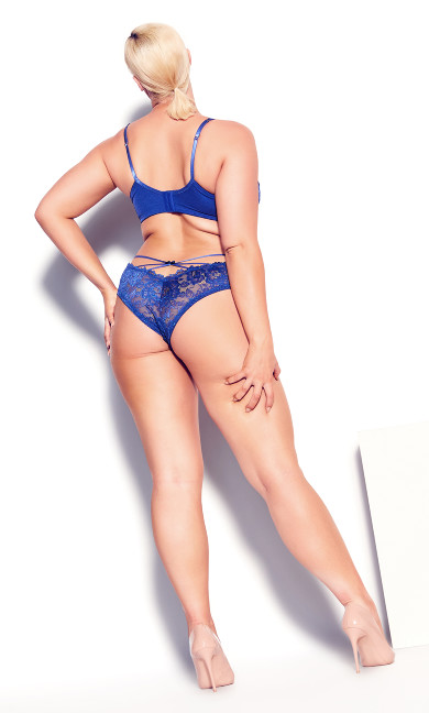 Olivia Strappy Panty - turkish blue