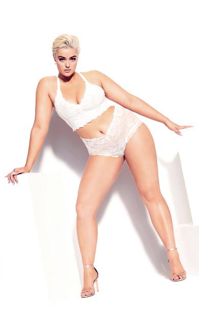 Plus Size Kira Lace Boyshort - ivory