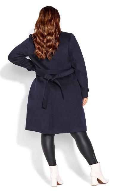 So Sleek Coat - navy