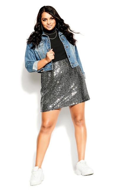 Razzle Skirt - silver