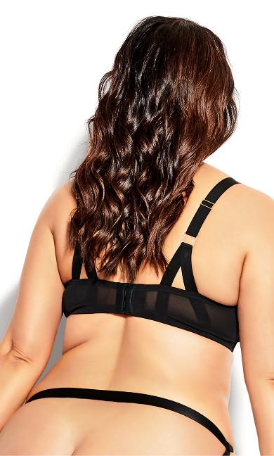 Angelika Balconette Bra - black