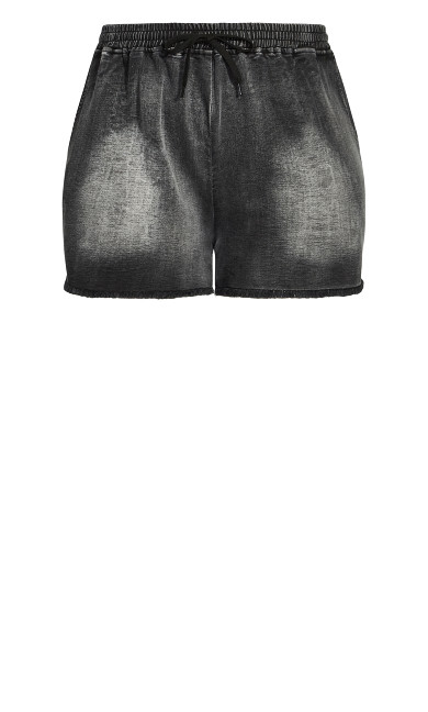 Soft Denim Short - black wash
