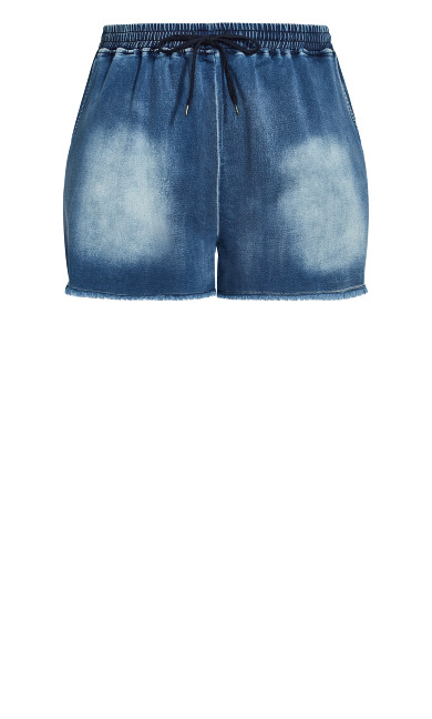 Soft Denim Short - mid wash